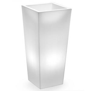 Cache-Pot Genesis carré lumineux Base Inox LED Lyxo